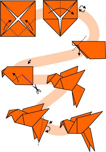 Как оригами сделать голубя мира из 270