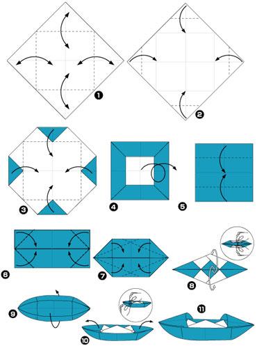 Сделать бумажную лодку 5