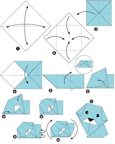 Как сделать собачку из бумаги маленькую