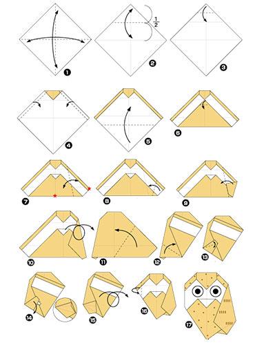Как сделать оригами из бумаги сова