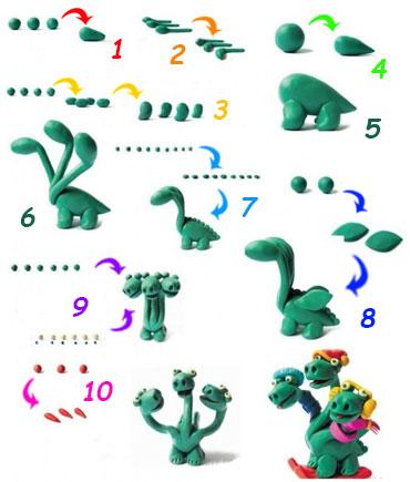 Как сделать дракона 2 из пластилина