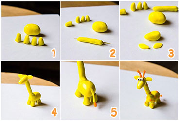 жираф из пластилина пошагово с картинками было